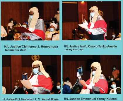 Four New Supreme Court Justices Sworn into Office